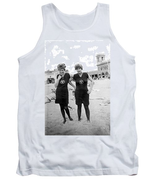 Two Girls At Venice Beach Tank Top by Underwood Archives