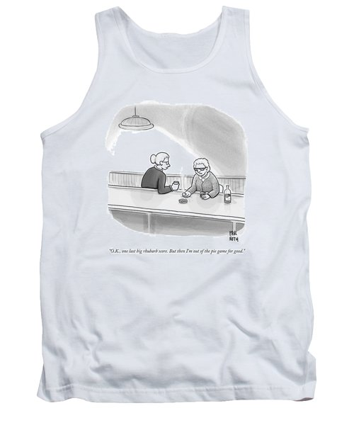 Two Grannies Smoke And Drink At A Bar Tank Top