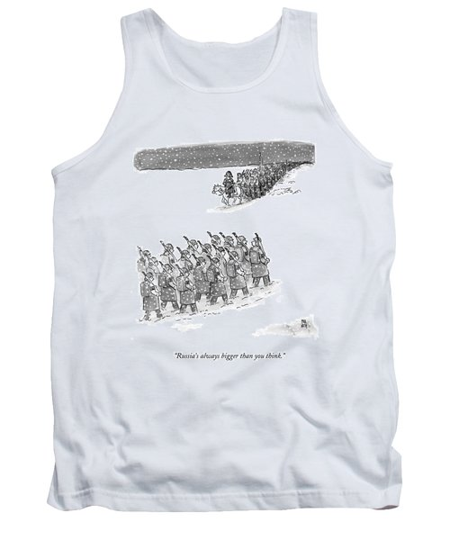 Two Groups Of Army Troops Walk In Opposite Tank Top