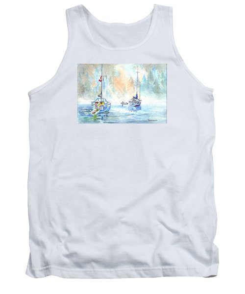 Tank Top featuring the painting Two In The Early Morning Mist by Carol Wisniewski