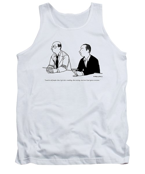 Two Men Are Seen Speaking With Each Other Tank Top