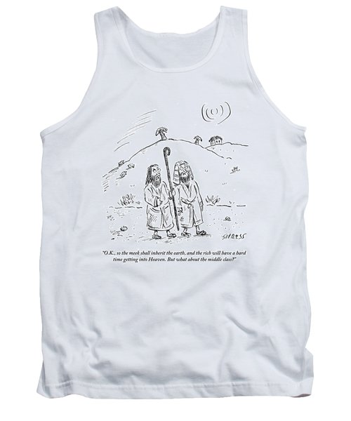 Two Men Are Seen Walking In The Desert And One Tank Top