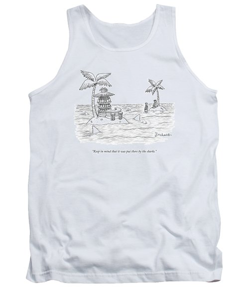 Two Men Stand On A Desert Island Tank Top