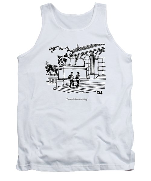 Two Men Walk Into A Library.  There Is An Tank Top