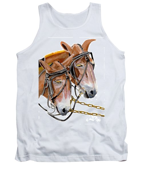 Two Mules - Enhanced Color - Farmer's Friend Tank Top