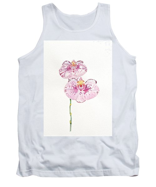 Tank Top featuring the painting Two Orchids by Michele Myers
