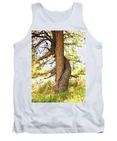 Two Pines Intertwined  Tank Top