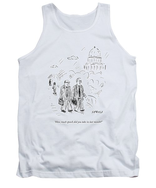 Two Politicians Speak To Each Other. The Capitol Tank Top