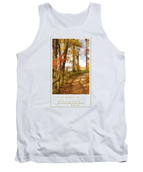 Two Roads Diverged Tank Top by Jean Goodwin Brooks