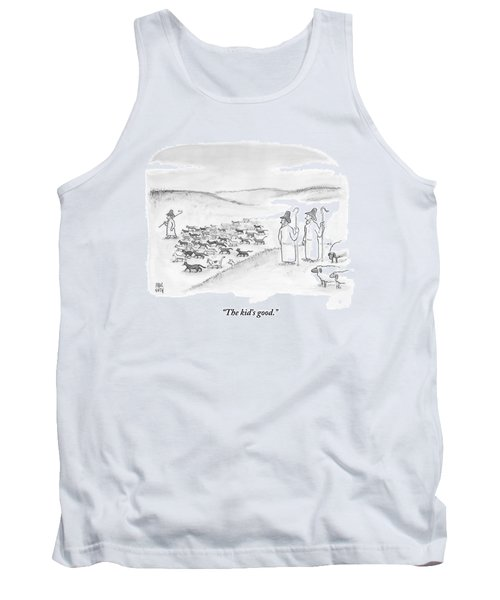 Two Shepherds With Conventional Sheep Look Tank Top