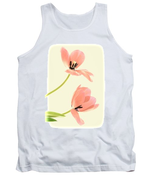Two Tulips In Pink Transparency Tank Top
