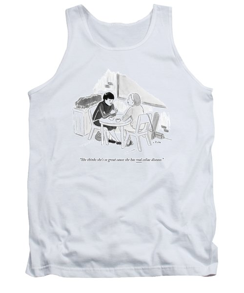 Two Women Speaking At A Coffee Shop Table Tank Top