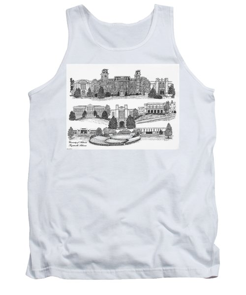 University Of Arkansas Fayetteville Tank Top by Jessica Bryant