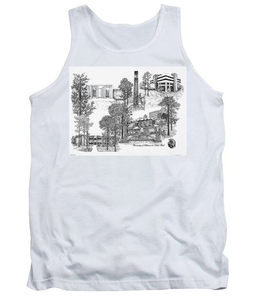 University Of Arkansas Tank Top by Jessica Bryant