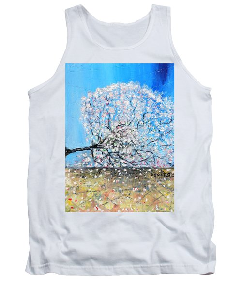 Tank Top featuring the painting Unstable Position by Evelina Popilian