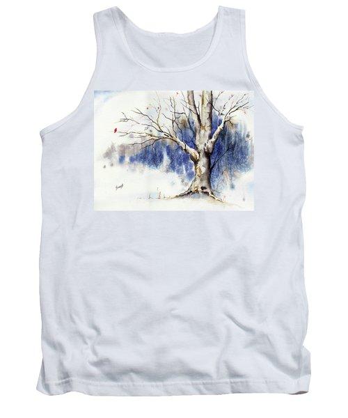 Untitled Winter Tree Tank Top