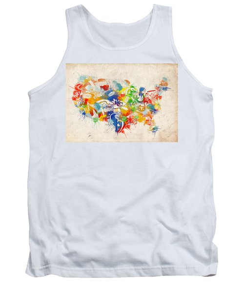 Usa Nfl Map Collage 12 Tank Top