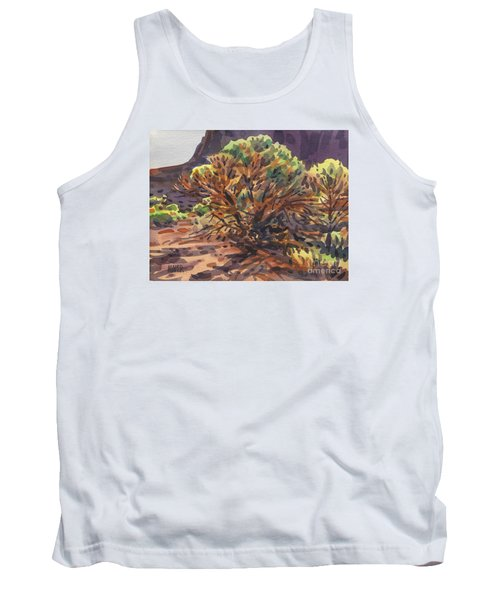 Tank Top featuring the painting Utah Juniper by Donald Maier