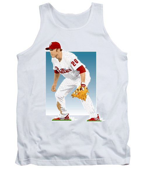 Tank Top featuring the digital art Utley In The Ready by Scott Weigner