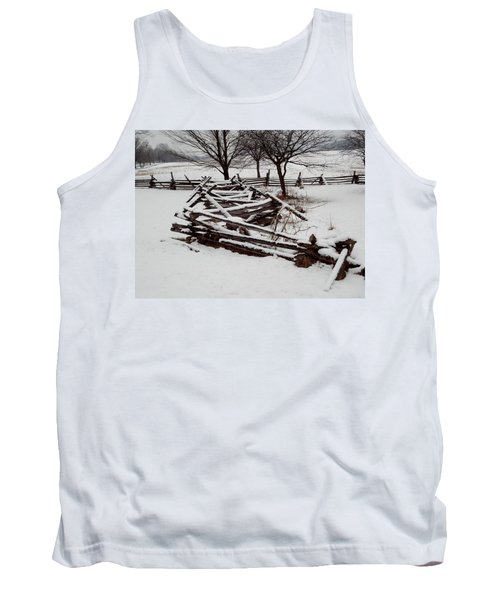 Tank Top featuring the photograph Valley Forge Snow by Michael Porchik