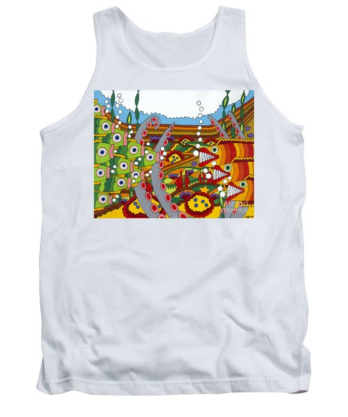 Vegetarians And Meat Eaters Tank Top
