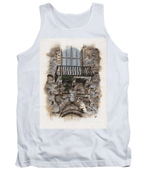Tank Top featuring the painting Venetian Balcony 02 Elena Yakubovich by Elena Yakubovich