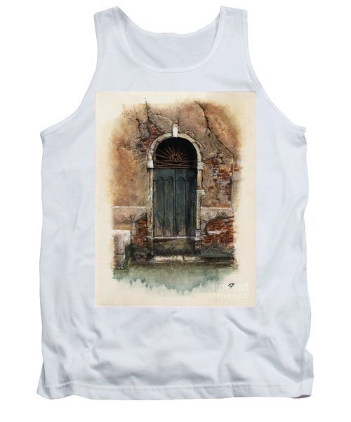 Tank Top featuring the painting Venetian Door 01 Elena Yakubovich by Elena Yakubovich