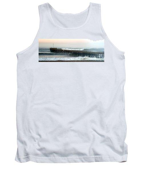 Tank Top featuring the photograph Ventura Storm Pier by Henrik Lehnerer