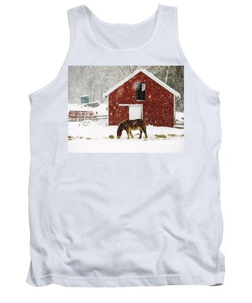 Vermont Christmas Eve Snowstorm Tank Top