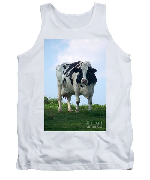 Tank Top featuring the photograph Vermont Dairy Cow by Eunice Miller