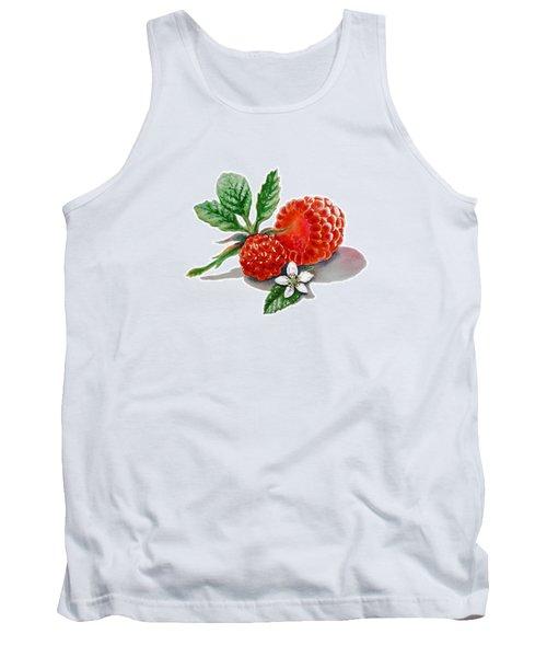 Artz Vitamins A Very Happy Raspberry Tank Top by Irina Sztukowski