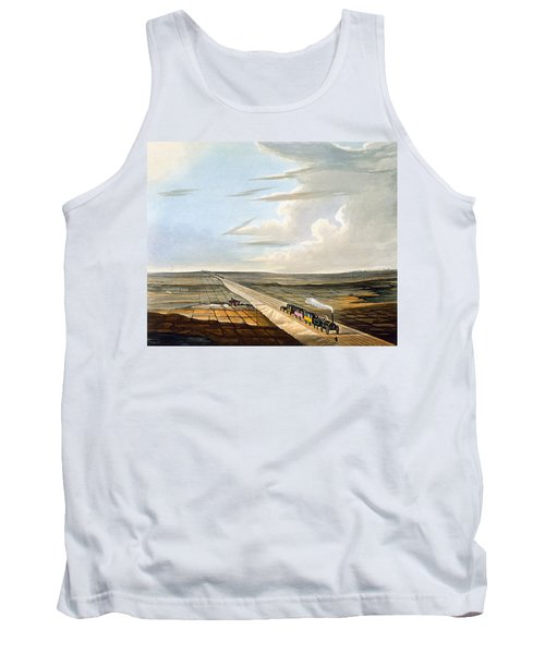 View Of The Railway Across Chat Moss Tank Top