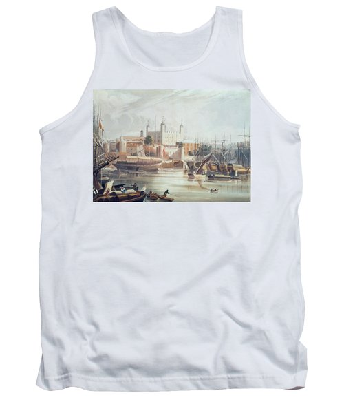View Of The Tower Of London Tank Top by John Gendall