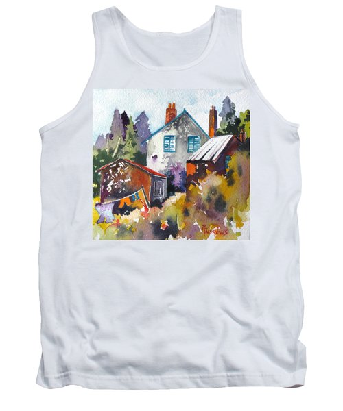 Tank Top featuring the painting Village Life 1 by Rae Andrews