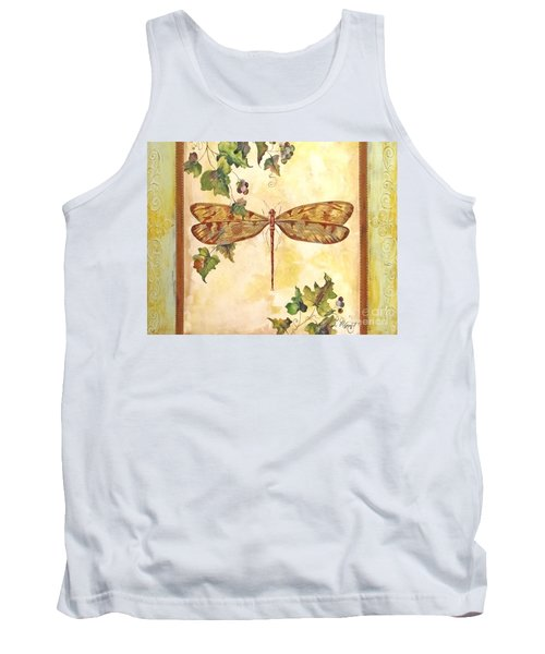 Vineyard Dragonfly Tank Top by Jean Plout