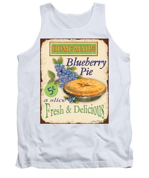 Vintage Blueberry Pie Sign Tank Top