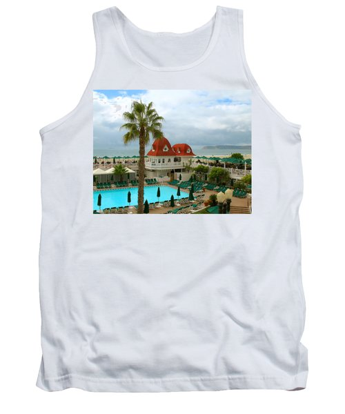 Vintage Cabana At The Del Tank Top by Connie Fox