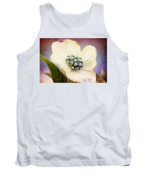 Tank Top featuring the photograph Vintage Dogwood Blossom by Trina  Ansel