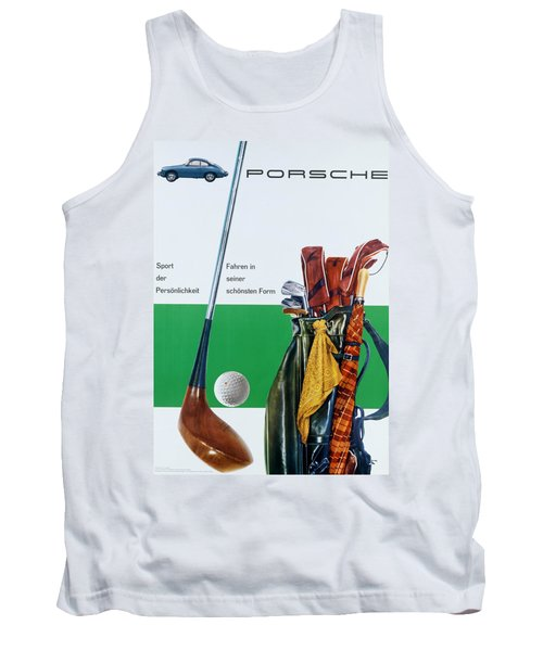 Vintage German Porsche Advert Tank Top
