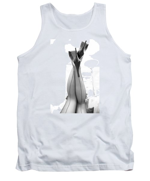 Vintage Stockinged Legs Tank Top by Mez