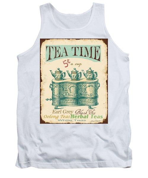 Vintage Tea Time Sign Tank Top