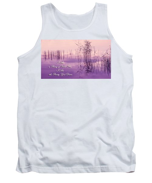 Violet Fire Mantra Words Tank Top