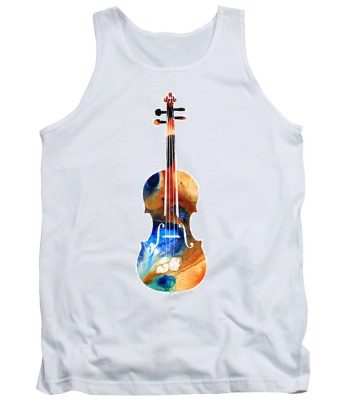 Violin Art By Sharon Cummings Tank Top