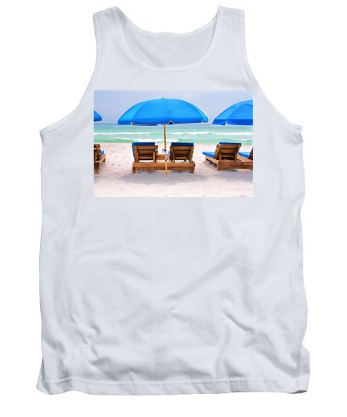 Panama City Beach Digital Painting Tank Top