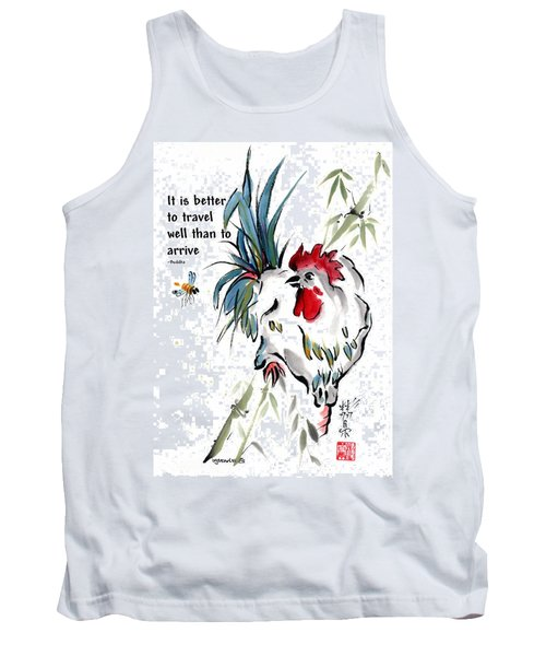 Tank Top featuring the painting Walkabout With Buddha Quote I by Bill Searle