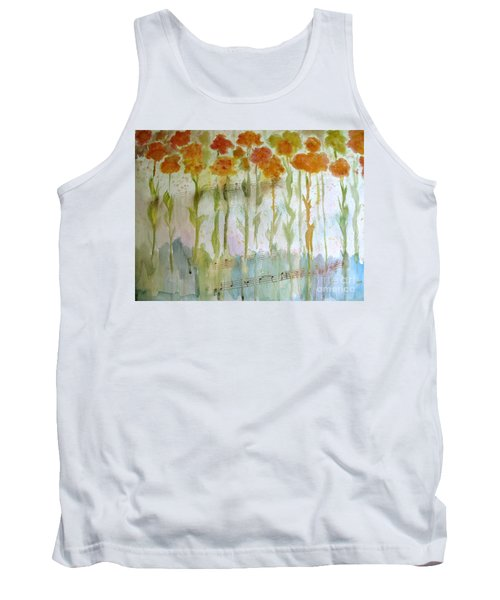Tank Top featuring the painting Waltz Of The Flowers by Sandy McIntire