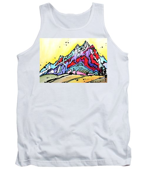 Tank Top featuring the painting Waning Seasons In The Tetons by Nicole Gaitan