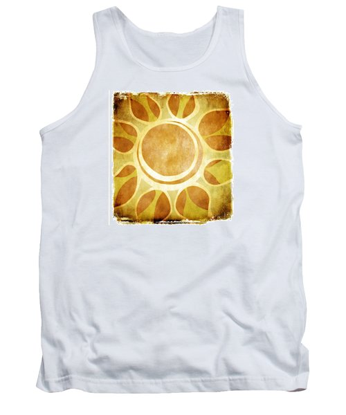 Warm Sunny Flower Tank Top by Lenny Carter