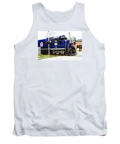 Tank Top featuring the photograph Washington County Railroad by Mike Martin