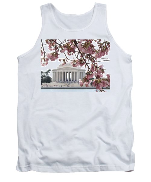 Washington Dc In Bloom Tank Top by Jennifer Wheatley Wolf